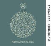 christmas ball made of...   Shutterstock .eps vector #318495521