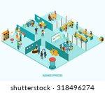 office interior. reception ... | Shutterstock .eps vector #318496274