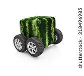 Cube Watermelon On Wheels...