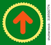 arrow up round stamp icon. this ... | Shutterstock .eps vector #318500774