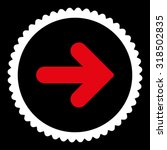arrow right round stamp icon....