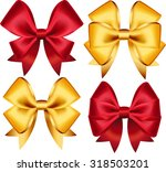 set of colorful gift bows.... | Shutterstock .eps vector #318503201