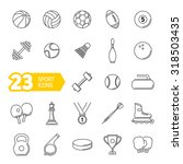 vector black sports icons set | Shutterstock .eps vector #318503435