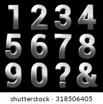 3d chrome metal number set... | Shutterstock . vector #318506405