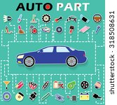 cars and car parts sticker info ... | Shutterstock .eps vector #318508631