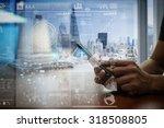 designer hand working and smart ... | Shutterstock . vector #318508805