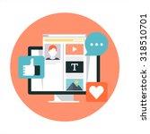 social media theme  flat style  ... | Shutterstock .eps vector #318510701