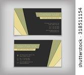 set of vector business cards... | Shutterstock .eps vector #318511154