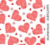 red heart seamless pattern  ... | Shutterstock .eps vector #318512495