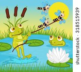 frog ride on the lake   vector... | Shutterstock .eps vector #318515939