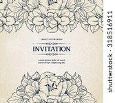 floral background design in... | Shutterstock .eps vector #318516911