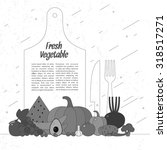 fresh vegetables. organic food. ... | Shutterstock .eps vector #318517271