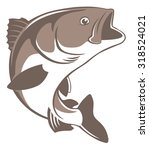 the figure shows a fish perch   Shutterstock .eps vector #318524021