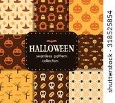 halloween pattern collection.... | Shutterstock .eps vector #318525854