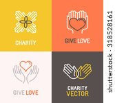 vector charity and volunteer... | Shutterstock .eps vector #318528161