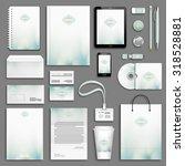 aqua green corporate identity... | Shutterstock .eps vector #318528881