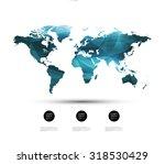 geometric world map | Shutterstock .eps vector #318530429