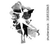 ballerina in dance. watercolor...   Shutterstock .eps vector #318532865