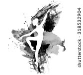 ballerina in dance. watercolor... | Shutterstock .eps vector #318532904
