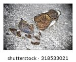 puzzle of a broken bottle of...   Shutterstock . vector #318533021