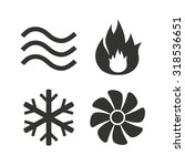 hvac icons. heating ... | Shutterstock .eps vector #318536651