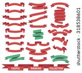 useful set of different ribbon... | Shutterstock .eps vector #318538601