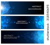 abstract blue background set... | Shutterstock .eps vector #318540695