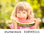 Happy Child Eating Watermelon....