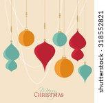 retro decorative christmas... | Shutterstock .eps vector #318552821