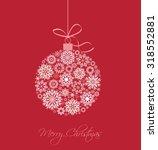 christmas balls made from...   Shutterstock .eps vector #318552881