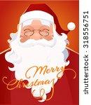 vector santa claus portrait | Shutterstock .eps vector #318556751