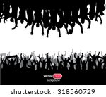 banner from the crowd | Shutterstock .eps vector #318560729