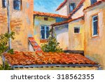 Colorful Oil Painting   Roofs...