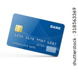 credit card  isolated on white... | Shutterstock .eps vector #318563369