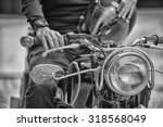 Biker Man Sitting On His...