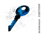 safety concept  pixelated blue...   Shutterstock . vector #318570569