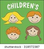 illustration of children | Shutterstock . vector #318572387