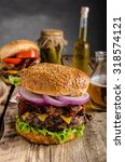 american rustic bacon burger...