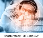 the testing and research... | Shutterstock . vector #318585869