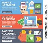mobile payment  internet... | Shutterstock .eps vector #318587771