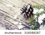Christmas Fir Tree With Cones...