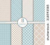 Seamless Pattern. Set Of Eight...