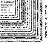 vector set of fifteen hand... | Shutterstock .eps vector #318595805