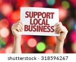 support local business placard... | Shutterstock . vector #318596267