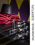daggers illusionist magician ...   Shutterstock . vector #318597191