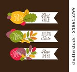 autumn sale. vector... | Shutterstock .eps vector #318615299