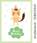 horse happy birthday greeting... | Shutterstock .eps vector #318615314