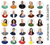 diverse people multi ethnic... | Shutterstock . vector #318616874