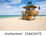 lifeguard station along...   Shutterstock . vector #318622475