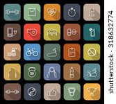 fitness line flat icons with... | Shutterstock .eps vector #318632774